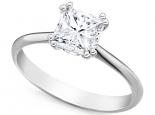 טבעת יהלום להצעת אירוסין יהלום מרובע  3/4 קרט