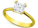 טבעת יהלום להצעת אירוסין יהלום מרובע