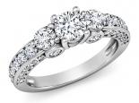 טבעת טריפל משובצת מבפנים ומבחוץ