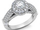 טבעת יהלומים בעיצוב מיוחד יהלום מרכזי חצי קרט