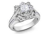 מבצע מיוחד טבעת פרח יוקרתית