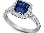 טבעת אירוסין יהלום מרובע