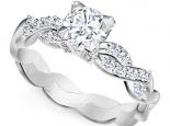טבעת יהלום קלסית- 1 קראט מרכזית