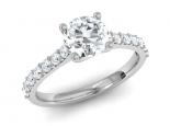 טבעת יהלום קלסית 30 נקודות מרכזית