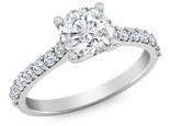 טבעת אירוסין קלאסית יהלום מרכזי בולט 30 נקודות