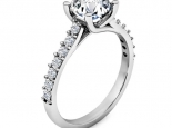 טבעת אירוסין עם טוויסט חצי קארט