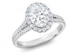 טבעת יהלומים מיוחדת עם יהלום אובל מעל קארט