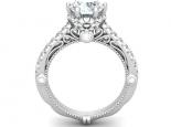 טבעת יהלום 1 קרט בעיצוב מיוחד