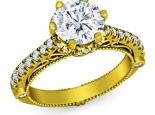 טבעת יהלום יוקרתית בעיצוב מיוחד חצי קרט