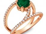 טבעת יהלום מיוחדת טבעת קשתות יהלומים אבן חן מרכזית קארט אמרלד ספיר רובי