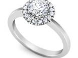 טבעת HOLO יהלום שסביבו יהלומים