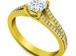 טבעת אירוסין יהלום מרובע או עגול
