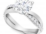 טבעת אירוסין קלאסית אלגנטית חצי קארט יהלום מרכזי