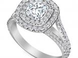 טבעת 2 שורות יהלומים