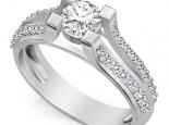 טבעת יהלום 1 קרט קלסית