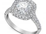 טבעת אירוסין מרובעת 1 קט
