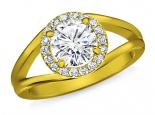 טבעת יהלום מעוצבת 3/4 קרט