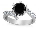 טבעת אירוסין יהלום שחור גדול ומודגש