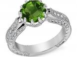 טבעת יהלומים מלכותית 2 קרט אבן חן ספיר רובי אמרלד ברקת