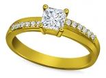 טבעת אירוסין בעיצוב מיוחד 1 קארט יהלום מרכזי