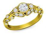 טבעת אירוסין וינטג יהלום 1 קרט