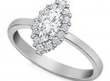 טבעת דיאנה יהלום מרקיזה עיצוב עדין ונקי