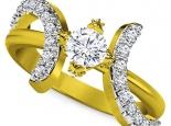 טבעת אירוסין בעיצוב יוקרתי  1 קרט