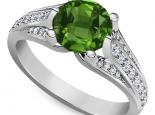 טבעת אבן חן אמרלד רובי ספיר טבעת זהב רחבה