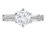 טבעת יהלום גדול 2 קארט