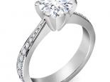 טבעת יהלום גדול קארט טבעת זהב רחבה