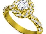 טבעת אירוסין בעיצוב מיוחד יהלום 30 נקודות
