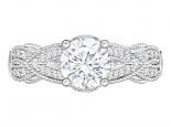 טבעת יהלום בעיצוב מיוחד יהלום מרכזי 3/4 קארט