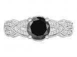 טבעת יהלום בעיצוב מיוחד יהלום שחור