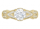 טבעת יהלום בעיצוב מיוחד יהלום מרכזי 30 לקארט