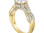 טבעת יהלום בעיצוב מיוחד יהלום מרכזי חצי קארט