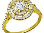 טבעת HOLO אלגנטית 30 בקרט יהלום מרכזי