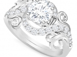 טבעת יהלומים בעיצוב מיוחד 30 נקודות יהלום מרכזי