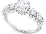 טבעת וינטג 1 קארט מרכזית +1.18 בצדדים טבעת מעל 2 קארט