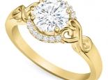טבעת אירוסין וינטג מיוחדת 30 נקודות מרכזית