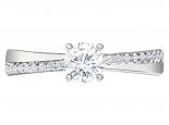 טבעת אירוסין בסיבוב עדין יהלום מרכזי 15 בקארט