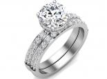 טבעות אירוסין- סט טבעת אירוסין וטבעת נישואין- 0.30 נקודות מרכזית
