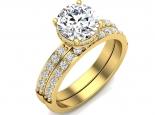 סט טבעת אירוסין זהב צהוב