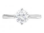 טבעת יהלום סוליטר קלסית