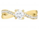 טבעת אירוסין חצי קרט יהלום מרכזי