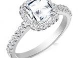 טבעת אירוסין הולו יהלום בחיתוך קושן- 30 נקודות מרכזית
