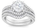 תכשיטים מעוצביםטבעות אירוסין וטבעת נישואין סט מושלם