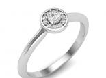 טבעת אירוסין הולו עדינה
