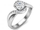 טבעת יהלום טוויסט אלגנטית