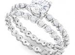 טבעת יהלום משובצת כולה יהלומים אפשרי כסט
