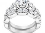 סט טבעות יהלומים- אירוסין ונישואין תואמות- 0.50 קראט מרכזית